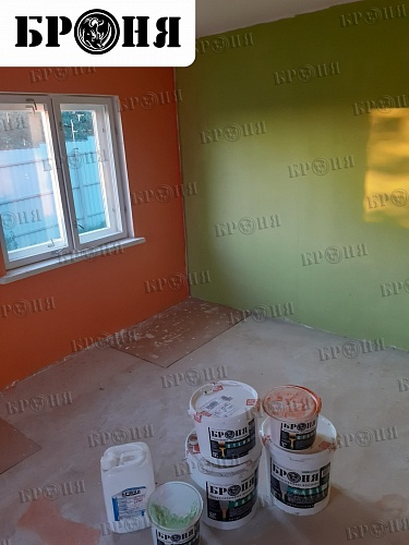 Thermal insulation Bronya on the walls and floor in a private house in Kaluga (photo)
